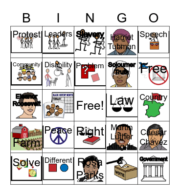 Peacekeepers Bingo Card