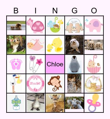 Chelsea's Baby Shower Bingo Card