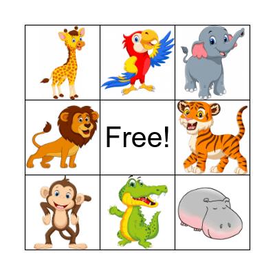 Wild animals Bingo Card