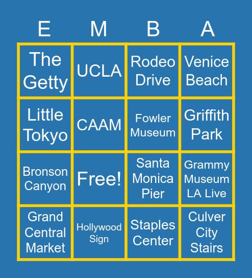 EMBA GAME NIGHT Bingo Card