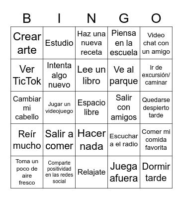 Vacaciones de primavera SAISD Bingo Card