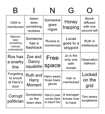 Spooks - Bingo Card
