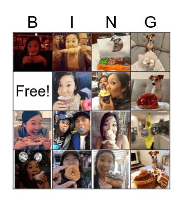 Marissa's Foodie Bingo Card