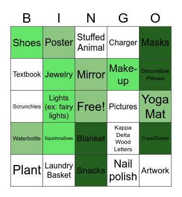 KD Room Tour Bingo! Bingo Card
