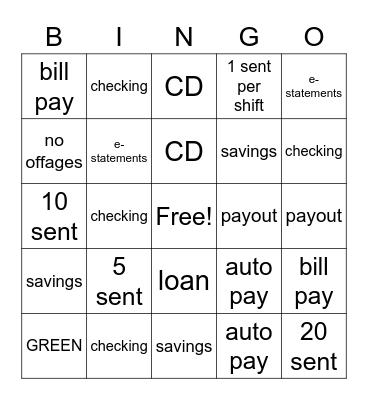 referrals Bingo Card