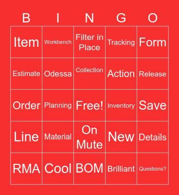 CloudSuite Bingo Card