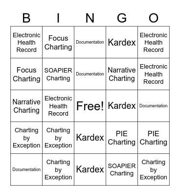 Ch 5 Bingo Card