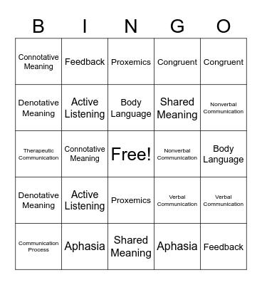 Ch 6 Bingo Card