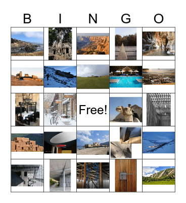Social Committee Bingo Card