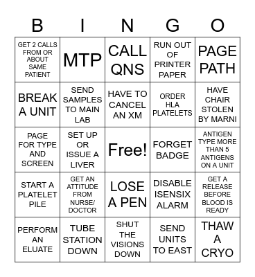 LAB WEEK 2021 BINGO Card
