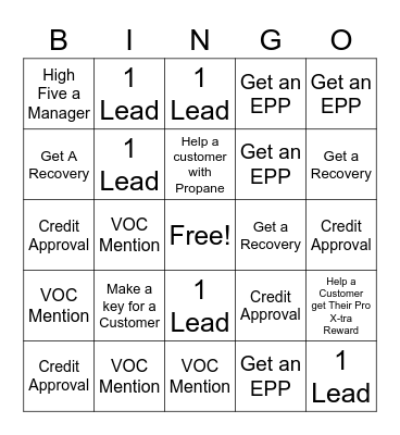 The Home Depot Bingo Card