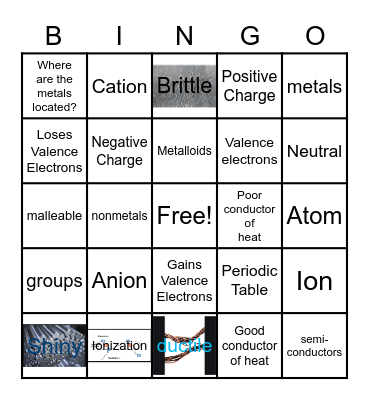 Kimoia Turnbull- Periodic Table Bingo Card