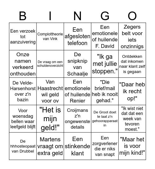 Budget Bingo Card