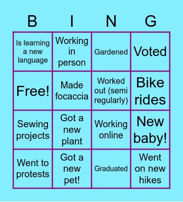 What a Year! Bingo Card