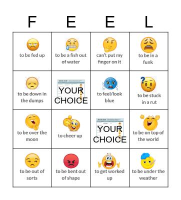 Emotion Idiom Bingo Card