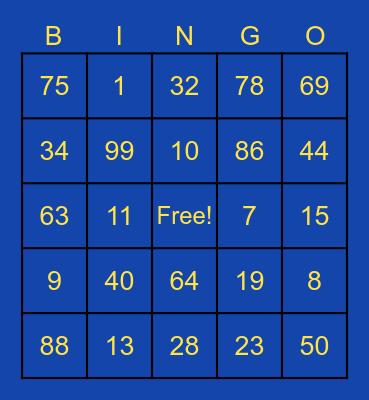 Key Club BINGO Card