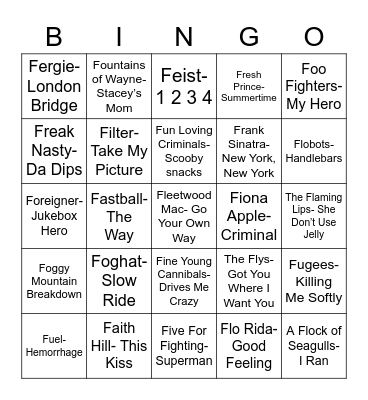 "Total-Quiz.Com Presents: Radio Bingo ""F"" It Up Bingo Card"