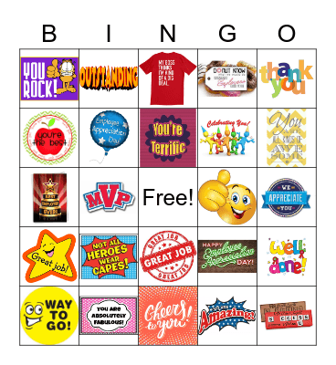 OneStop Employee Appreciation Bingo Card