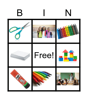 Classroom Objects Bingo Card