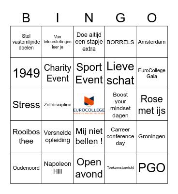EuroCollege Bingo Card