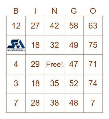 Lou Dennise R. Madrigal Bingo Card