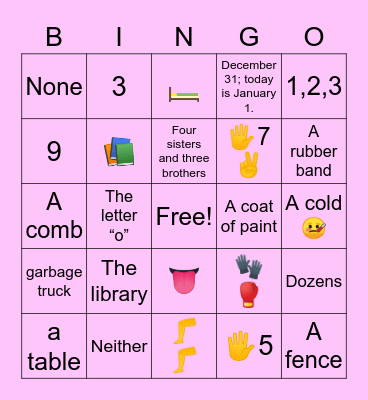 Riddle Me This ... BINGO Card