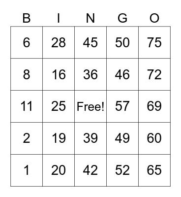 Kolokoys card Bingo Card