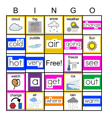Weather Changes & Sight Words (March ULS) Bingo Card