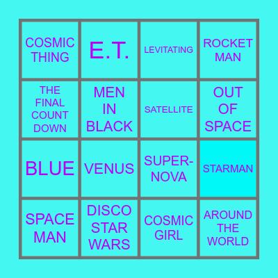 DISCO DISCO BINGO BINGO IN SPACE Bingo Card