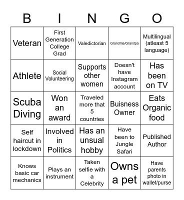 IWD'2021 Stericycle Bingo Card