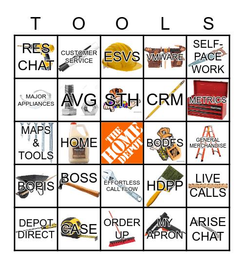 Tools Bingo Card