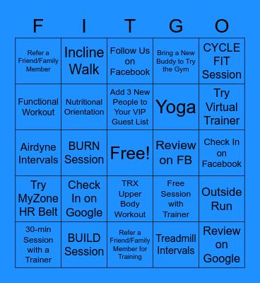 March Madness Fitness Bingo Card