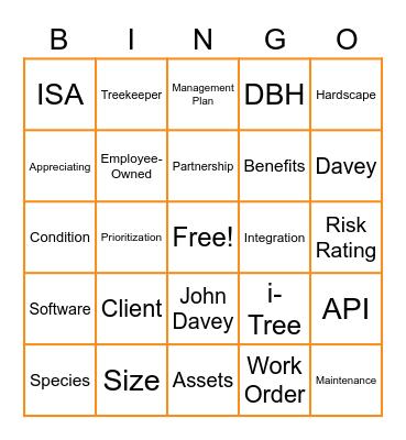 Partner Lunch Bingo Card
