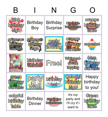 Anime Bingo Card