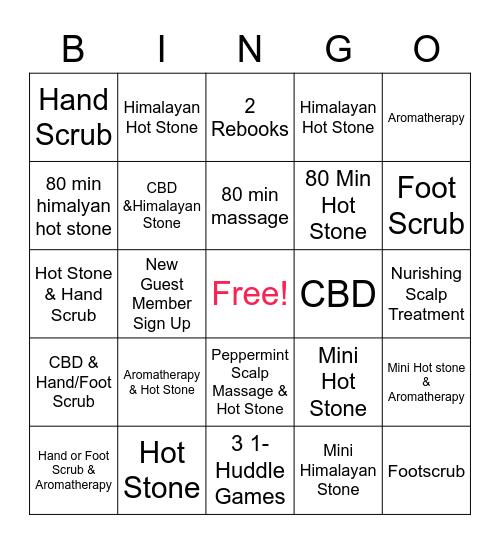 Massage Therapist Bingo Card