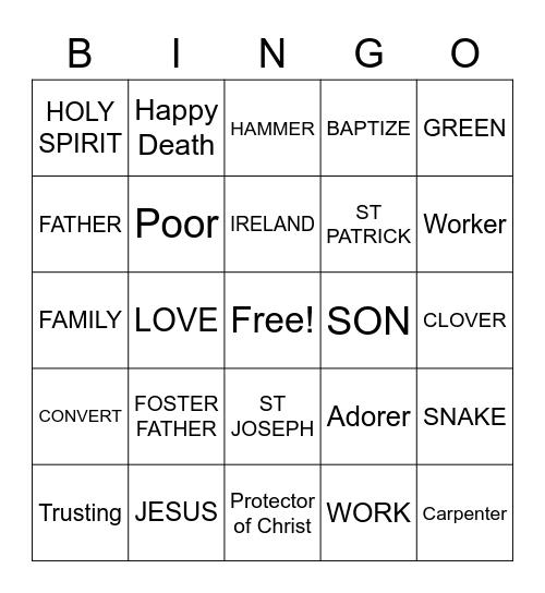 ST PATRICK & ST JOSEPH Bingo Card