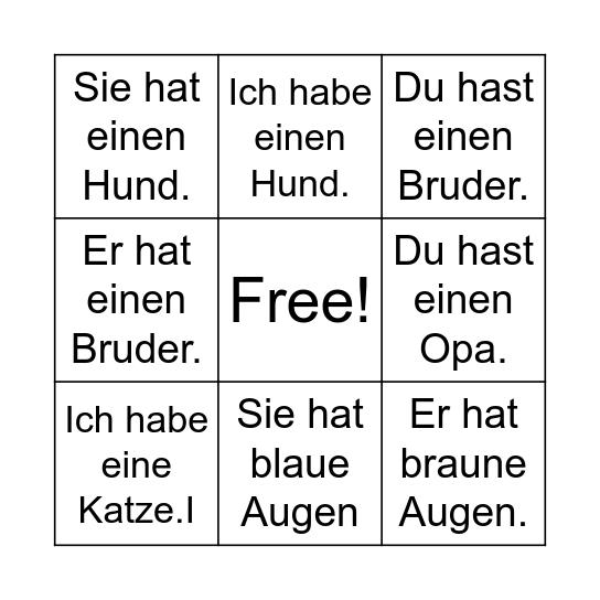 Haben Bingo Card