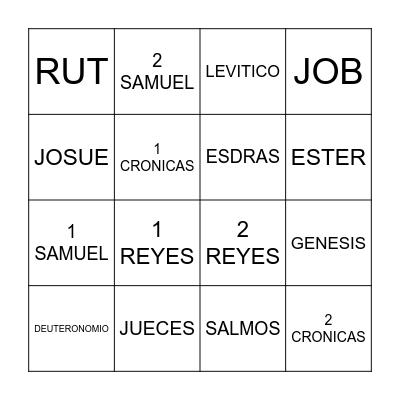 LIBROS DE LA BIBLIA Bingo Card