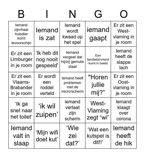 Farma x Hermes clubavond Bingo Card