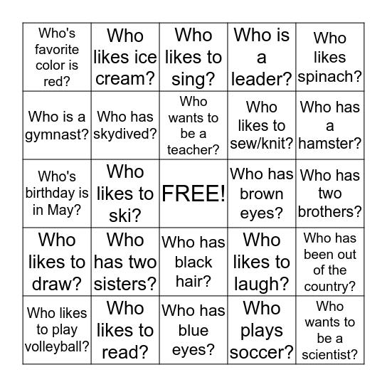 Healthy Future/Butterfly Effect 1.2015 Bingo Card