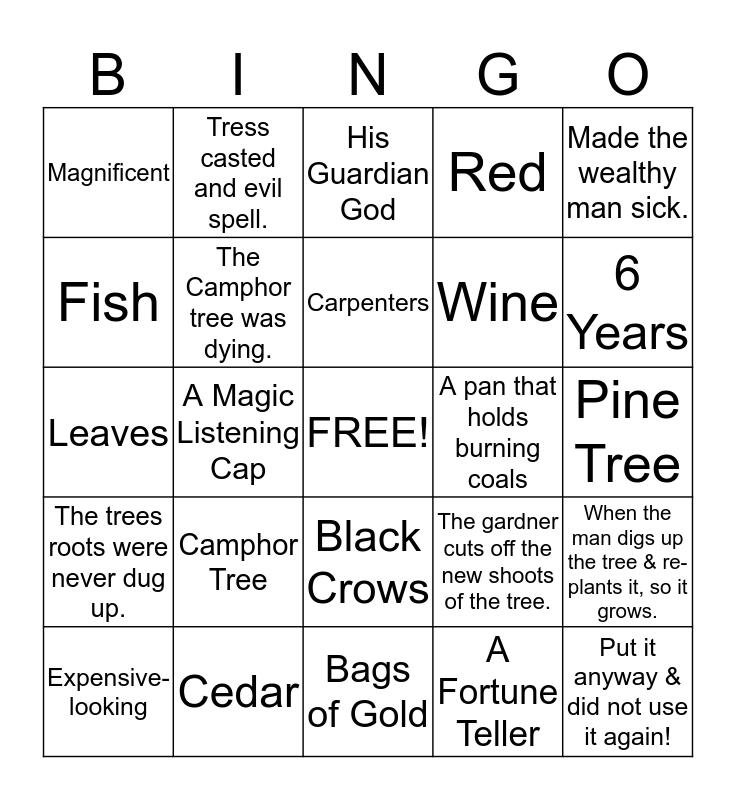 The Magic Listening Cap Bingo Card