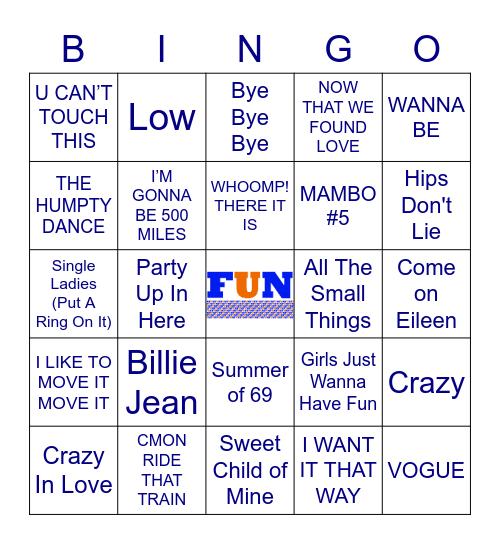 FUN 80's/90's/00's Mix Bingo Card