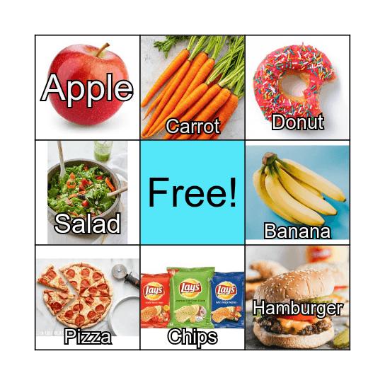 Syllable Bingo Card