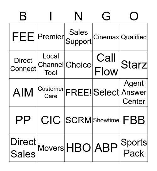 Betty's Bingo Card
