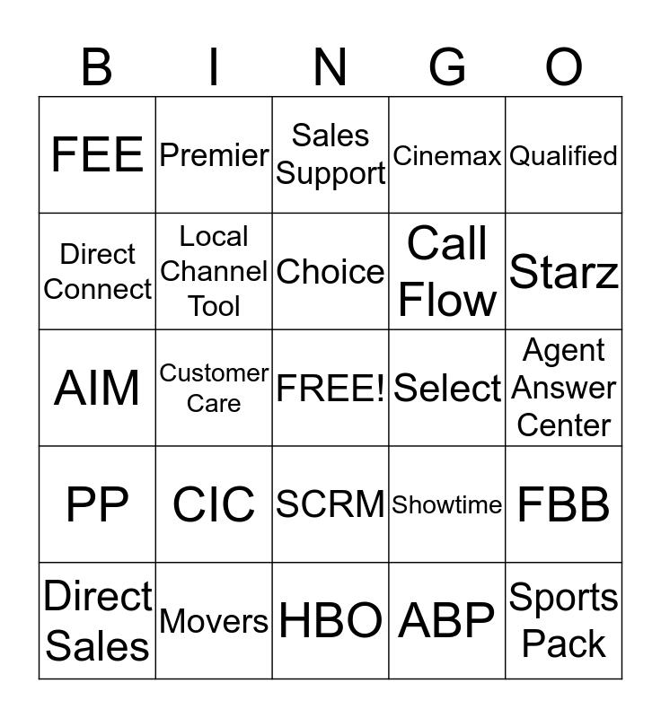 Betty's Bingo Card