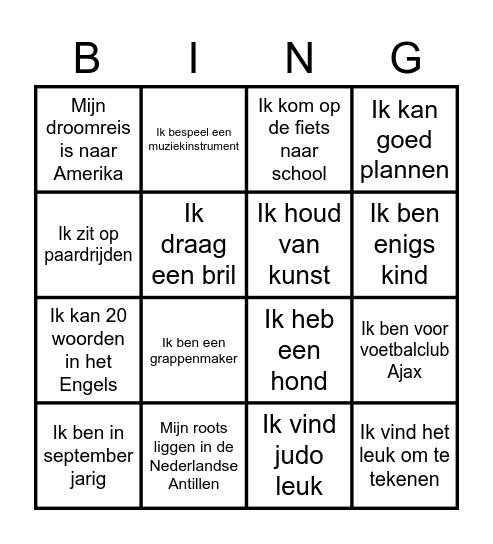 Groep 8 Bingo Card