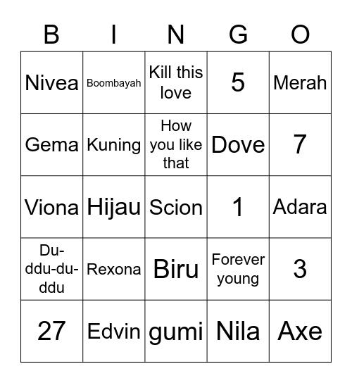 Megumi Bingo Card