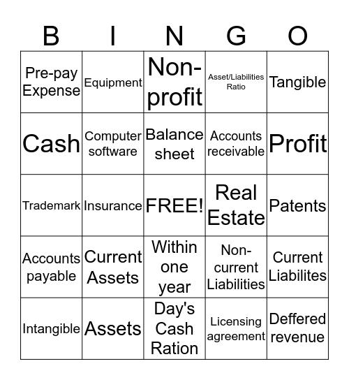 Balance Bingo Card