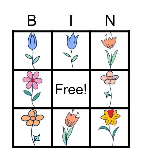 Bingo kwiaty Bingo Card