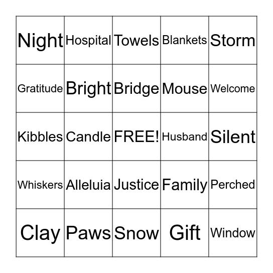 Advent 1 Silent Bingo Card
